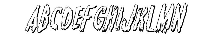 Monsterama 3D Italic Font LOWERCASE