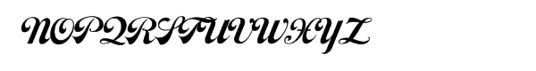 Moonshine Script NF Font UPPERCASE