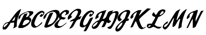 Mr. Spontaneous Font UPPERCASE