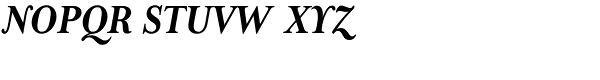 Mrs Eaves Bold Italic Font UPPERCASE