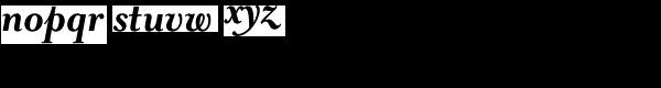 Mrs Eaves Bold Italic Font LOWERCASE