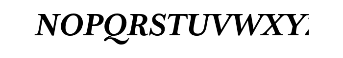 Mrs Eaves XL Serif Bold Italic OT Font UPPERCASE