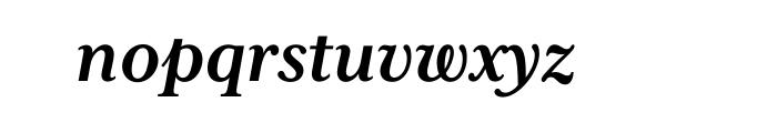 Mrs Eaves XL Serif Bold Italic OT Font LOWERCASE