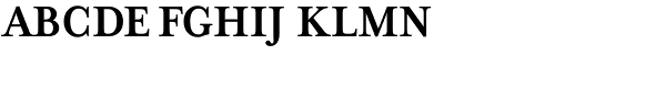 Mrs Eaves XL Serif Nar Bold SC Font UPPERCASE