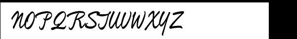 Mullen Hand Font UPPERCASE