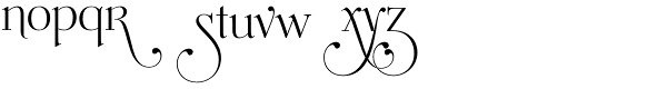 Mussica Swash Font LOWERCASE