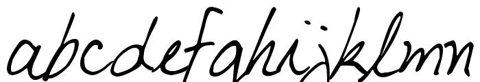 My Boyfriend's Handwriting Font LOWERCASE