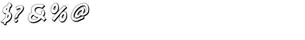 Nanumunga Shadow Oblique Font OTHER CHARS