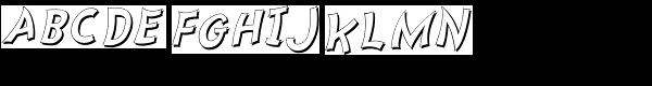 Nanumunga Shadow Oblique Font UPPERCASE
