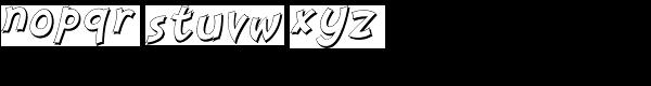 Nanumunga Shadow Oblique Font LOWERCASE