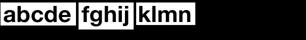 Neue Helvetica Arabic Std Bold Font LOWERCASE