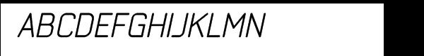 Neutraliser Alternate Oblique Font UPPERCASE