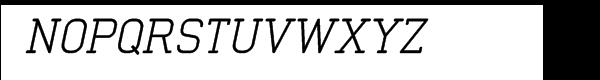 Neutraliser Serif Oblique Font UPPERCASE