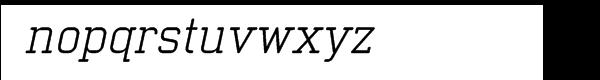 Neutraliser Serif Oblique Font LOWERCASE