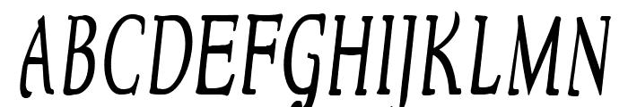 NewStyleCondensed Italic Font UPPERCASE