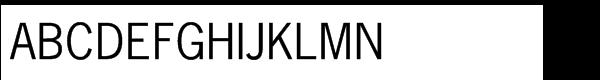 News Gothic™ Std Roman Font UPPERCASE