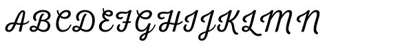 Nexa Script Light Font UPPERCASE