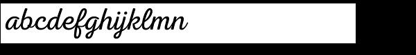Nexa Script Light Font LOWERCASE