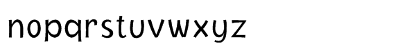 NIMX Jacoby™ Light Font LOWERCASE