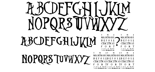 Nightmare Before Christmas Fonts.Nightmare Before Christmas Free Font What Font Is