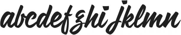 Nihlah otf (400) Font LOWERCASE