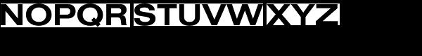 Nimbus Sans D Extended Bold Font UPPERCASE