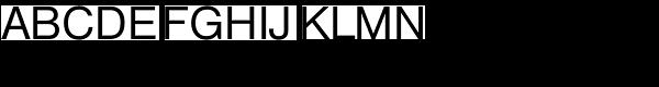 Nimbus Sans D Regular Font UPPERCASE