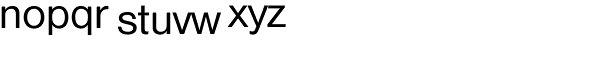 Nimbus Sans D Regular Font LOWERCASE