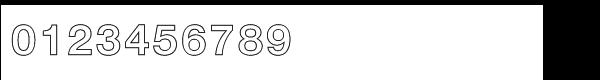 Nimbus Sans Std Bold outline (D) Font OTHER CHARS