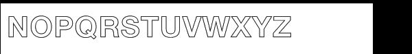Nimbus Sans Std Bold outline (D) Font UPPERCASE