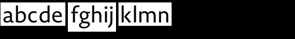 Novel Sans Office Pro Font LOWERCASE
