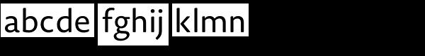 Novel Sans Rounded Pro Font LOWERCASE