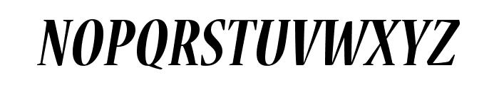 NuevaStd-BoldCondItalic Font UPPERCASE