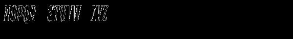 Numina Glamour Oblique Font UPPERCASE