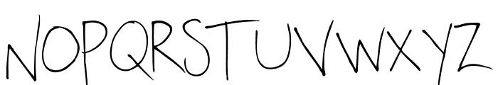 OakLawn-Regular Font LOWERCASE