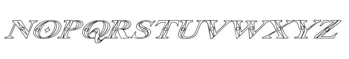 Occoluchi Italic Outline Font UPPERCASE
