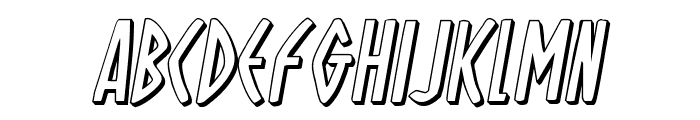 Oh Mighty Isis 3D Italic Font LOWERCASE