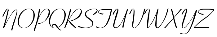 Ohio Script Font UPPERCASE