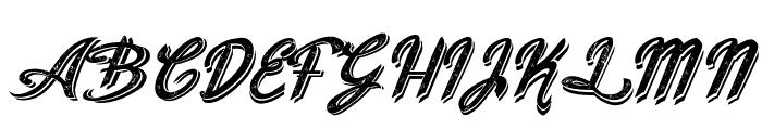 Old Figaro Cursive Italic Font UPPERCASE