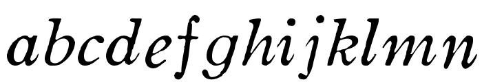 OldstyleHPLHS-Italic Font LOWERCASE
