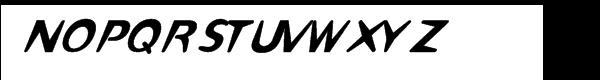 Omaha-Italic™ Font UPPERCASE
