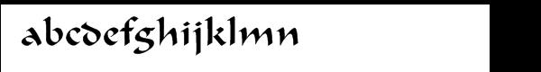Ondine™ CE Regular Font LOWERCASE