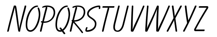 OPTIBalloon-Light Font UPPERCASE