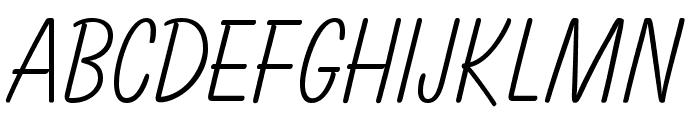 OPTIBalloon-Light Font LOWERCASE