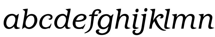 OPTIBarMay-BookItalic Font LOWERCASE