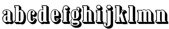 OPTIContactShadow-Agency Font LOWERCASE
