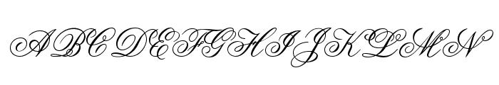 OPTIFlemish-Script Font UPPERCASE