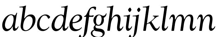OPTIwtcGoudy-RegularItalic Font LOWERCASE