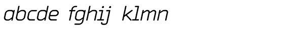 Orca Pro Italic Font LOWERCASE