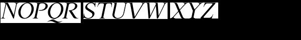P22 Late November Italic Font UPPERCASE